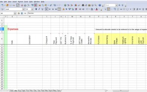GST Spreadsheet Expenses