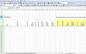 GST Spreadsheet Expenses